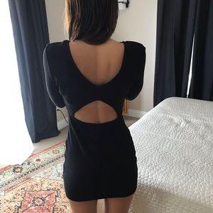 Black RVCA open back knit dress